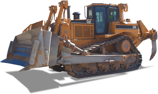 Yellow CAT Gravel Dozer